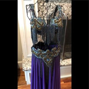 Custom Beautifully Ornate Belly Dancing Costume
